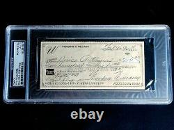 Ted Theodore Williams Psa/dna Certified Signed 1990 Check Autograph Auto Hof