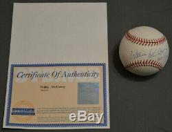 Willie Mccovey Hof'86 Signe Autographed Baseball Auto Steiner Sports Coa